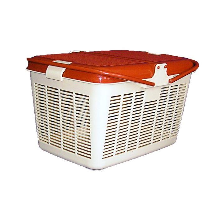 Корзина пластиковая малая квадратная (40х29х23 см) Kormberi.ru магазин товаров для ваших животных