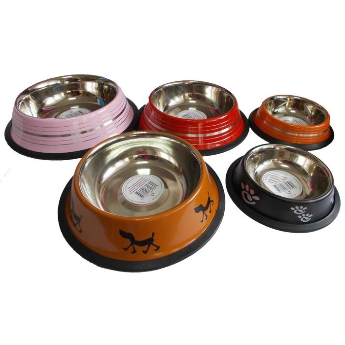 Миска на резинке №1 (0,45 л.) цветная 2601 Kormberi.ru магазин товаров для ваших животных