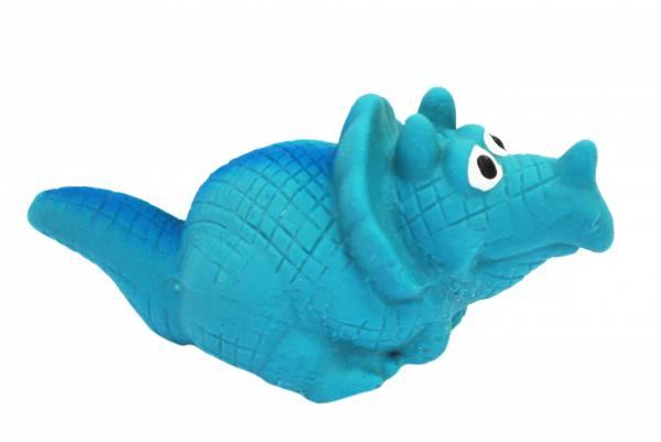 №1 №1 Игрушка д/собак Динозаврик голубой с пищалкой латекс 8см ЛС13 Kormberi.ru магазин товаров для ваших животных