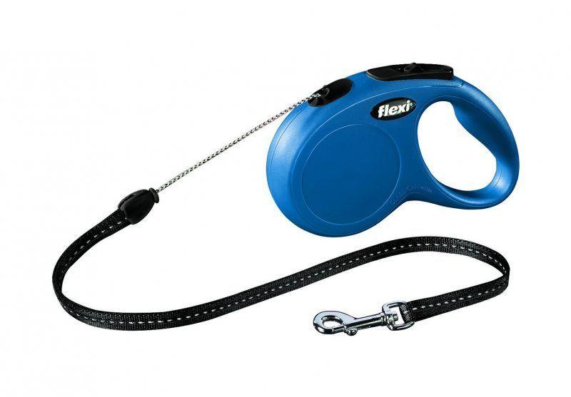 Флекси 5 м 20 кг New Classic cord М синяя (blue) рулетка-Трос Kormberi.ru магазин товаров для ваших животных