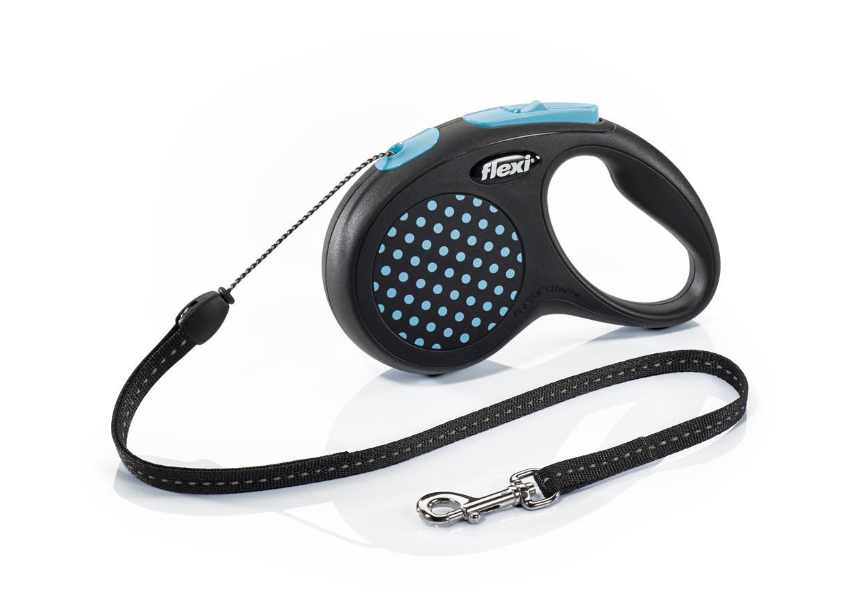 Флекси 5 м 12 кг Design cord S синий (blue), рулетка-Трос Kormberi.ru магазин товаров для ваших животных