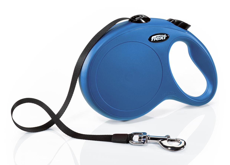 Флекси 8 м 50кг New Classic tape L синяя (blue) Рулетка-ремень Kormberi.ru магазин товаров для ваших животных