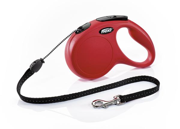 Флекси 5 м 20 кг New Classic cord М красная (red) рулетка-Трос Kormberi.ru магазин товаров для ваших животных