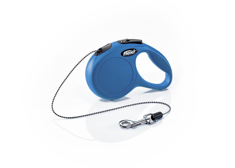 Флекси 3 м 8 кг New Classic cord XS синяя (blue) рулетка-Трос Kormberi.ru магазин товаров для ваших животных
