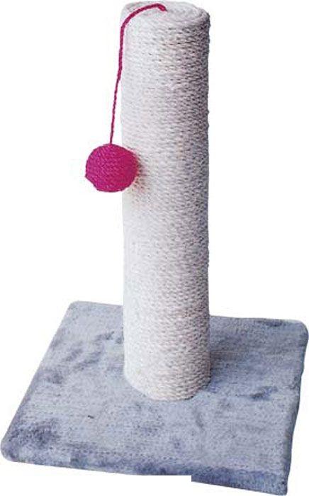 Уют когтеточка столбик сизаль на подставке с игрушкой 30*30*42 НМ820 Kormberi.ru магазин товаров для ваших животных