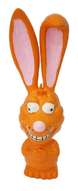 №1 №1 Игрушка д/собак Заяц оранжевый с пищалкой латекс 18см ЛС3 Kormberi.ru магазин товаров для ваших животных