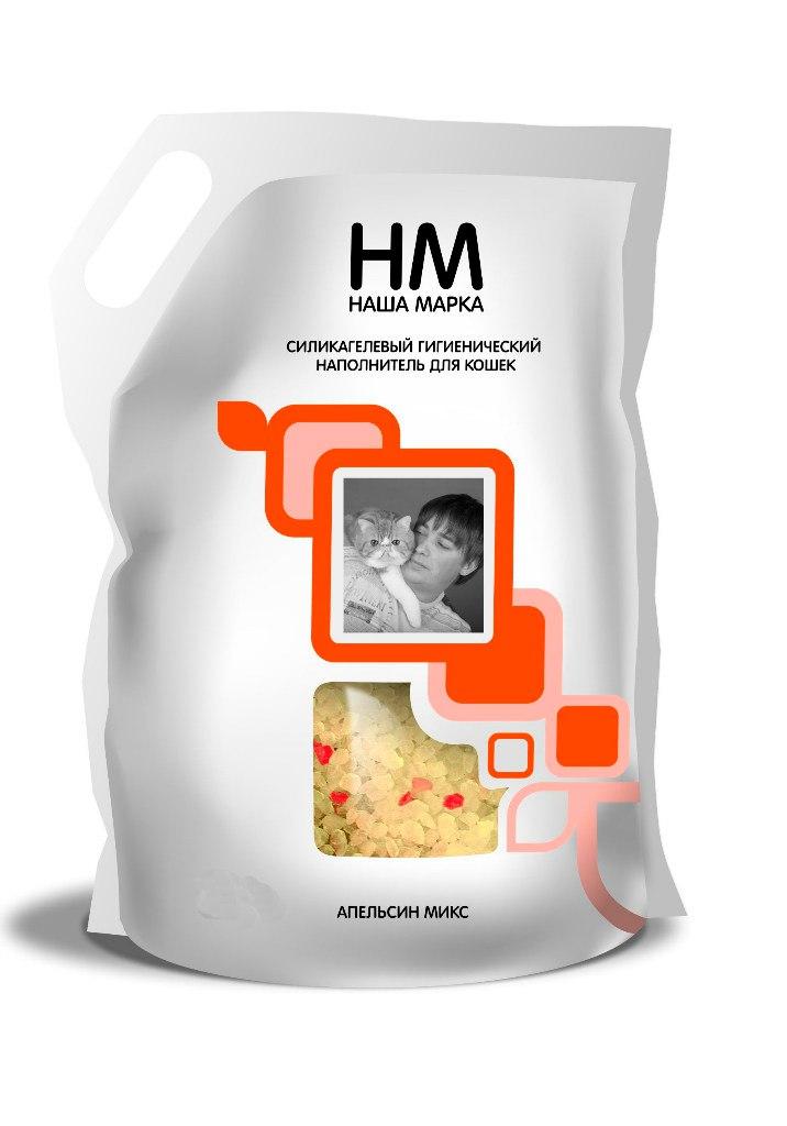 Наполнитель НМ силикагелевый для кошек 35л апельсин микс Kormberi.ru магазин товаров для ваших животных