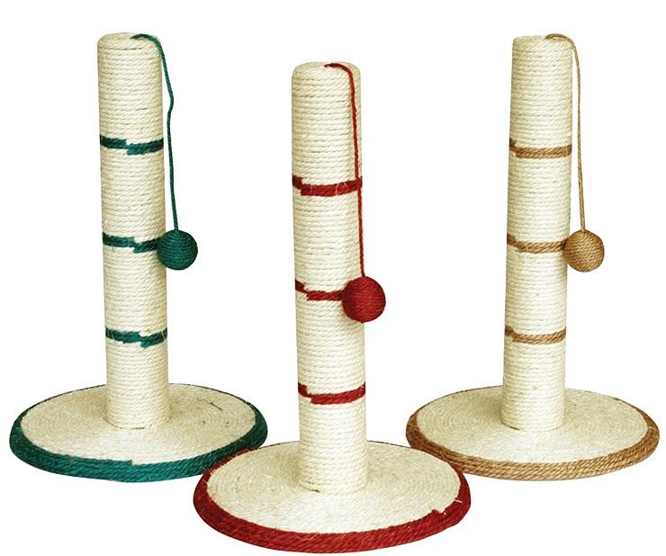Когтеточка стойка сизаль с мяч., на веревке 20*40 ИУ35 Kormberi.ru магазин товаров для ваших животных