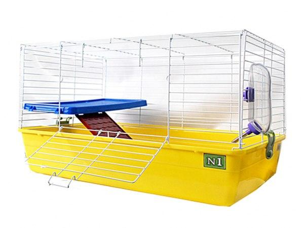 №1 Клетка д/кролика  69*45*43 бок. дверь, 2-эт, укомпл. 4,25кг ДКкR2-1 (уп2) Kormberi.ru магазин товаров для ваших животных