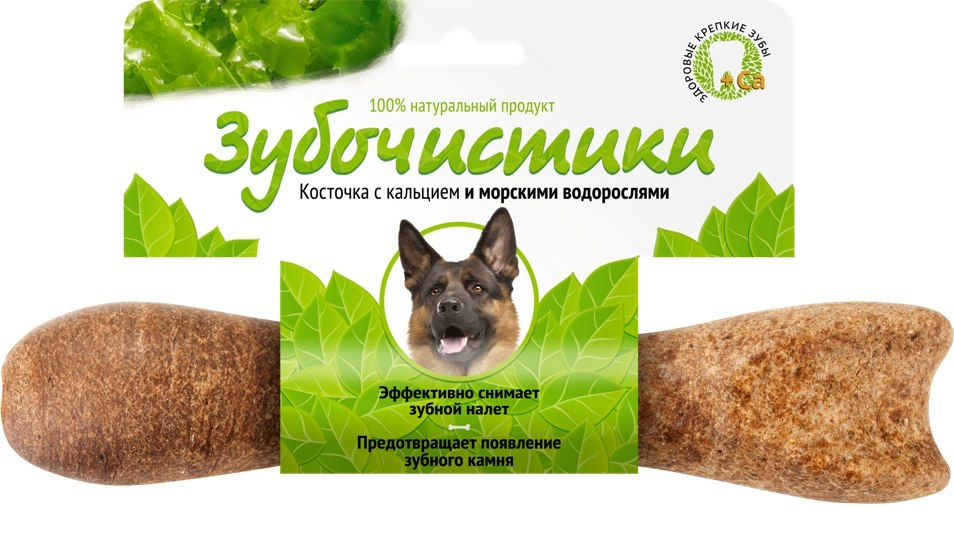 """Зубочистики """"Зубочистики"""" для собак крупных пород со вкусом морских водорослей (265г) 73303822 Kormberi.ru магазин товаров для ваших животных"""