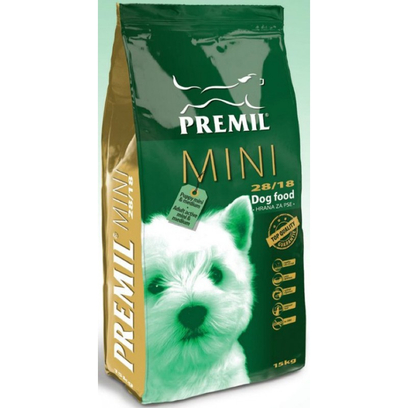 PREMIL (Сербия) PREMIL  MINI (15кг) для щенков мелк. актив. Собак (78% протеинов животного происх-я) Kormberi.ru магазин товаров для ваших животных