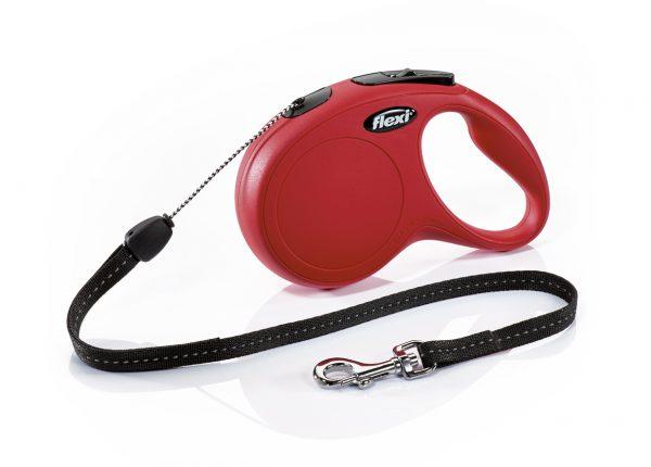 Флекси 8 м 12 кг New Classic cord S красная (red) рулетка-Трос Kormberi.ru магазин товаров для ваших животных