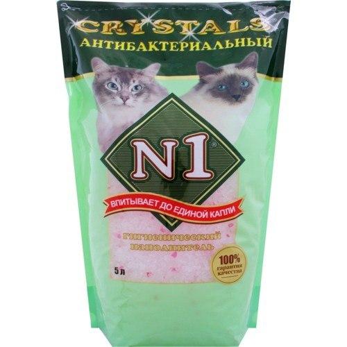 Наполнитель №1 Cristals- Антибактериальный (силикагелевый) 5л 2кг (уп8) Kormberi.ru магазин товаров для ваших животных