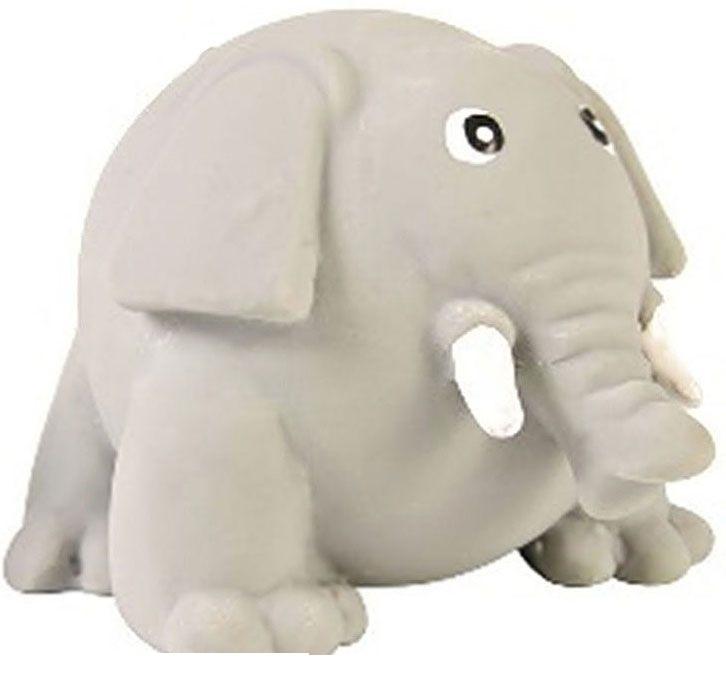 №1 №1 Игрушка для собак  Толстый слон с пищалкой, латекс, 8см, (144шт) ЛС78 Kormberi.ru магазин товаров для ваших животных
