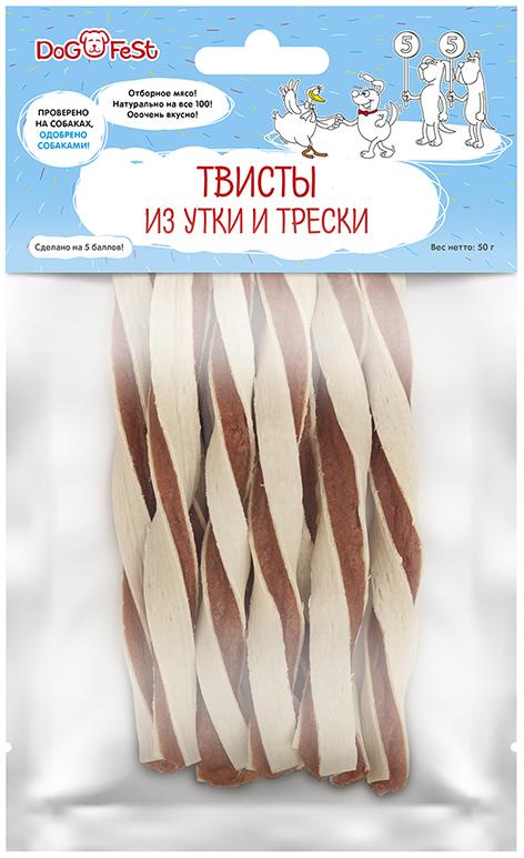 Твисты из утки и трески 50г.(уп200) 979712004 (2004) Kormberi.ru магазин товаров для ваших животных