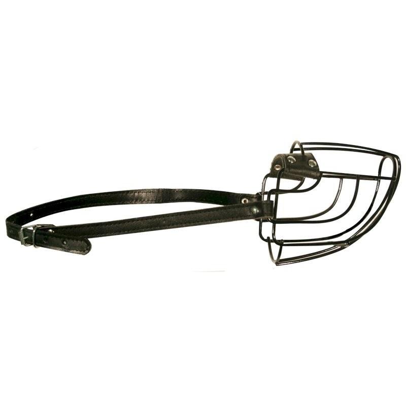 Намордник металл №4 (буль) черный 0987Ч Kormberi.ru магазин товаров для ваших животных