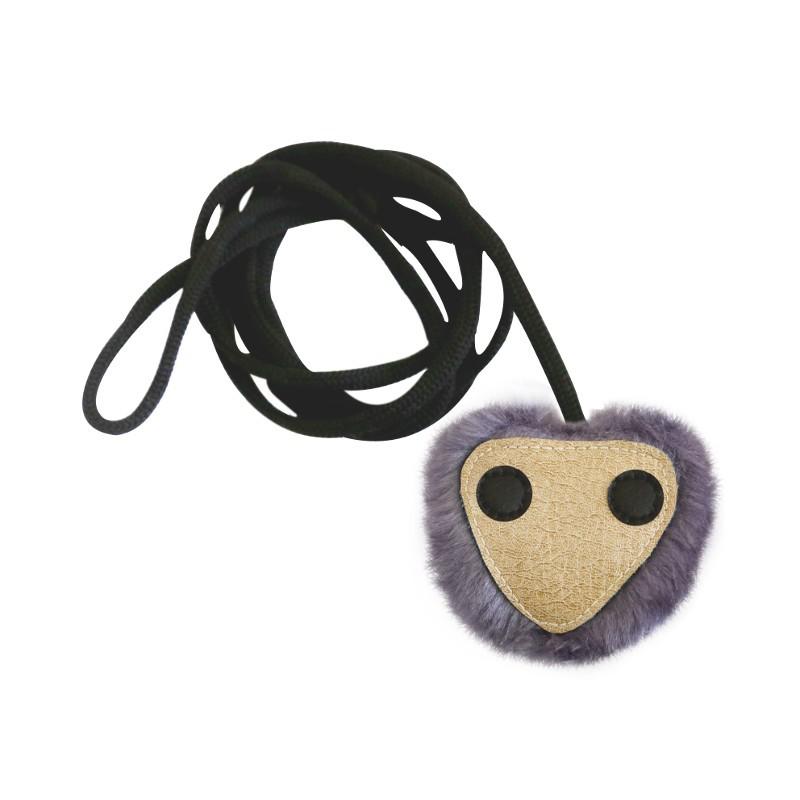 601060 игрушка д/кошек ГЛАЗАСТИК 8 см на эластичном шнуре иск.мех/иск.кожа (набор6шт) Kormberi.ru магазин товаров для ваших животных
