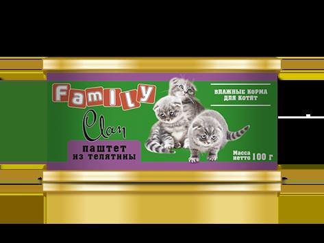CLAN FAMILY для кошек паштет Говядина 100 гр Kormberi.ru магазин товаров для ваших животных