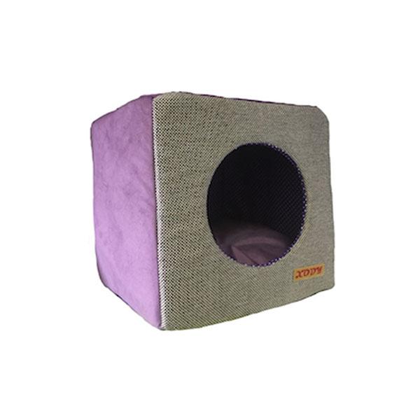 Xody Домик Куб Трансформер VIOLET (флок) №2 35х35х35 01622-2 Kormberi.ru магазин товаров для ваших животных