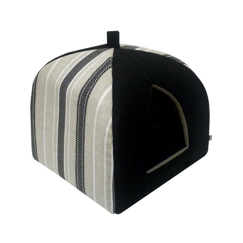 """76121 Дом вигвам """"Танго"""" №1 мебельная ткань 38*38*40 см Kormberi.ru магазин товаров для ваших животных"""