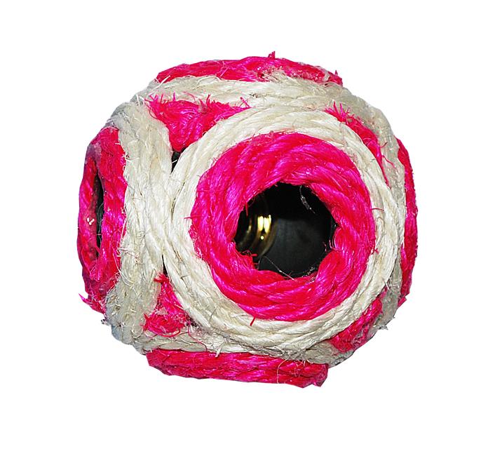 Мяч 6 см -когтеточка сизаль цветная ИУ214 Kormberi.ru магазин товаров для ваших животных