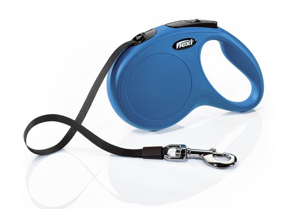 Флекси 5 м 25 кг New Classic tape M голубая (blue) рулетка-Ремень Kormberi.ru магазин товаров для ваших животных
