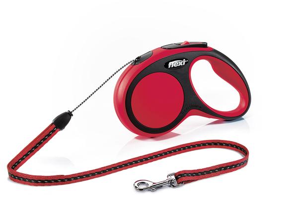 Флекси 5 м 12 кг New Comfort cord S красная (red) рулетка-Трос Kormberi.ru магазин товаров для ваших животных