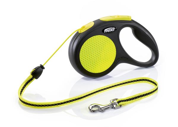 Флекси 5 м 20 кг New Neon cord M рулетка-Трос Kormberi.ru магазин товаров для ваших животных