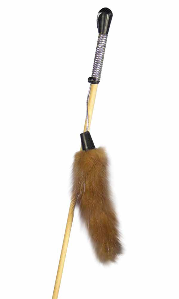 """Дразнилка """"Норковый хвостик на веревке"""" Kormberi.ru магазин товаров для ваших животных"""