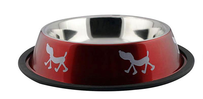 """Миска на резинке  № 1 цветной дизайн """"собака"""" (0,45 л) 4674 Kormberi.ru магазин товаров для ваших животных"""