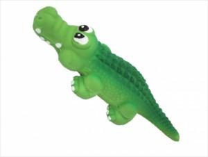 №1 №1 Игрушка д/собак Крокодил с пищалкой латекс 15см ЛС50 Kormberi.ru магазин товаров для ваших животных