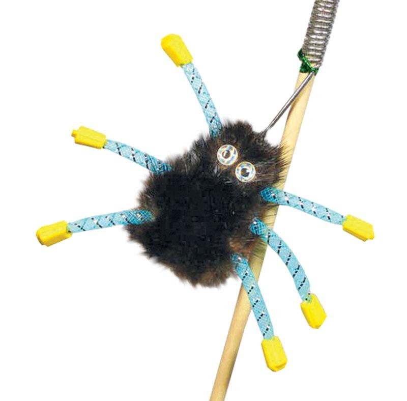 """Дразнилка """"Норковый паук на веревке"""" Kormberi.ru магазин товаров для ваших животных"""