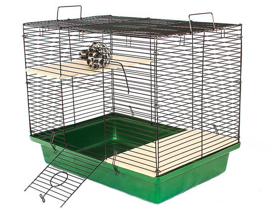 №1 №1 Клетка д/шиншилл, 2 этажа, разборная в коробке, 58х40х53 см 2,5кг РПК22 Kormberi.ru магазин товаров для ваших животных