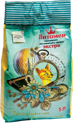 Питомец Наполнитель комкующийся бентонитовый экстра ТМ Питомец 5л (уп5) Kormberi.ru магазин товаров для ваших животных