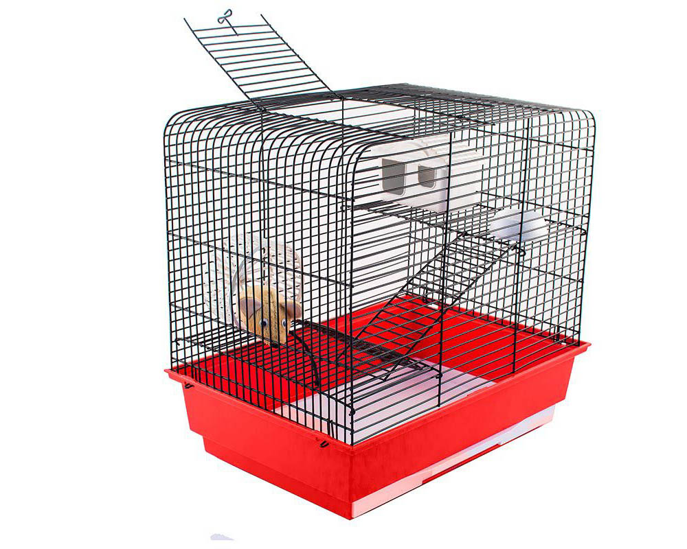 №1 №1 Клетка д/грызуна 37х26х35 см, с 2 этажами, цветная РПК16 Kormberi.ru магазин товаров для ваших животных