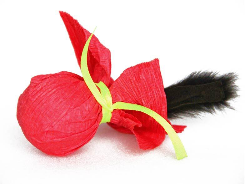 """DOGMAN Игрушка """"Шуршаший шар с норкой"""" (кош. мята) d 5 см., нат.норка, звенящая, шуршащая. Kormberi.ru магазин товаров для ваших животных"""