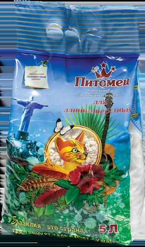 Питомец Наполнитель впитывающий диатомитовый для длинношерстных кошек ТМ Питомец 5л (уп5) Kormberi.ru магазин товаров для ваших животных