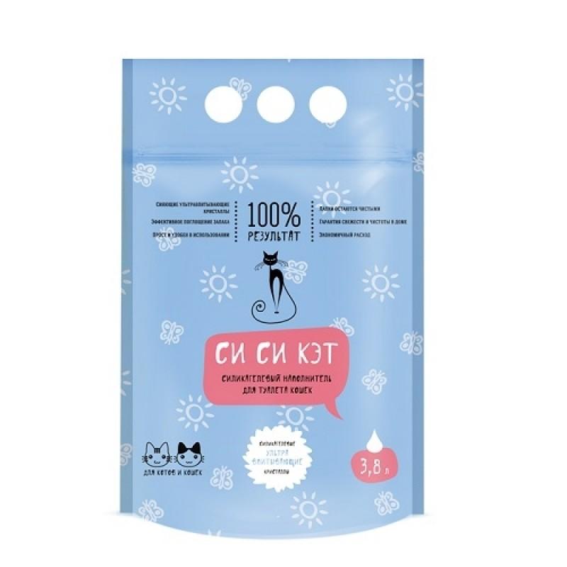 CC Cat Наполнитель СиСиКЭT (силикагелевый) пакет 3,8л Kormberi.ru магазин товаров для ваших животных