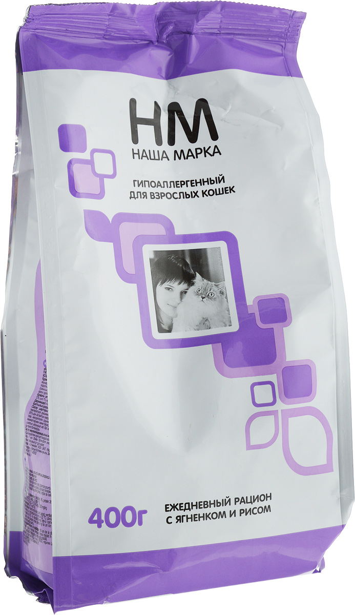 Наша Марка Корм сухой для кошек 'Наша Марка', с ягненком и рисом, 400 г Kormberi.ru магазин товаров для ваших животных