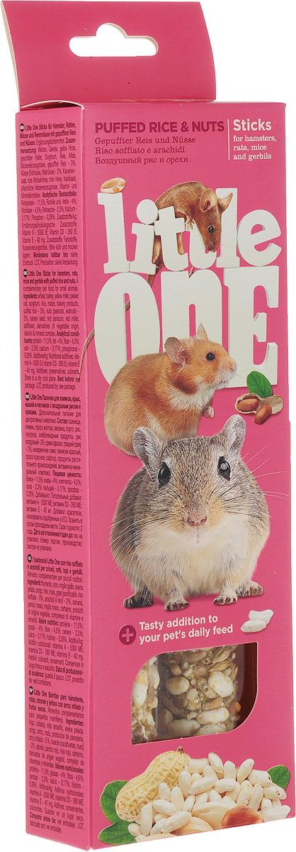 Little One Little One Палочки для хомяков,крыс,мышей,песчанок Фрукты Орехи (2*60 г) Kormberi.ru магазин товаров для ваших животных
