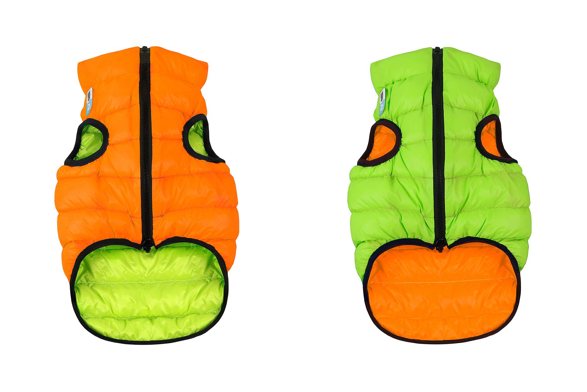 Collar Курточка для собак AiryVest двусторонняя, размер ХS 30, оранжево-салатовая 1594 Kormberi.ru магазин товаров для ваших животных