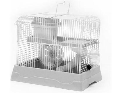 №1 №1 Клетка для хомяка, 30*23*25,7, прямоугольная, укомплектованная, серая ДКг187сер Kormberi.ru магазин товаров для ваших животных