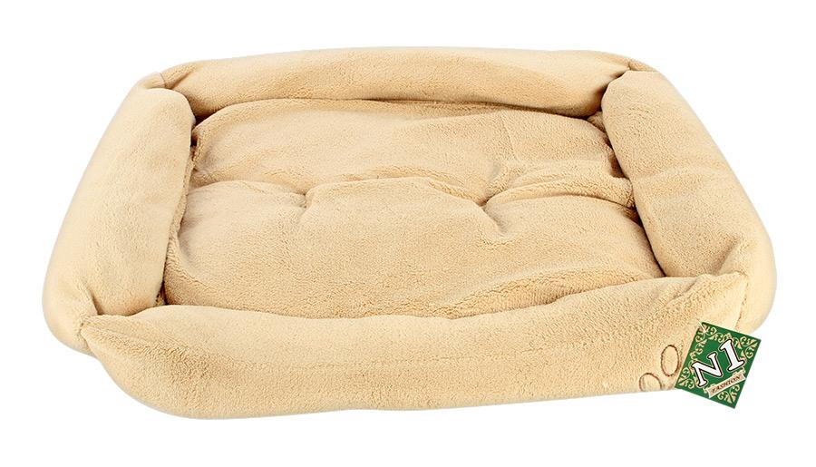 №1 №1 Лежанка Фэшн бежевая объемная, с подушкой 70*56*16 см Kormberi.ru магазин товаров для ваших животных