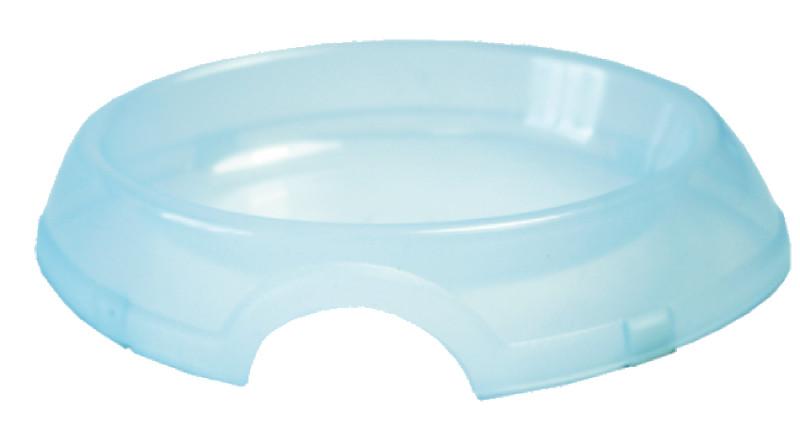 ZOOEXPRESS 12115 миска DeLuxe д/с 0,8 л прозрачная пластмассовая Kormberi.ru магазин товаров для ваших животных