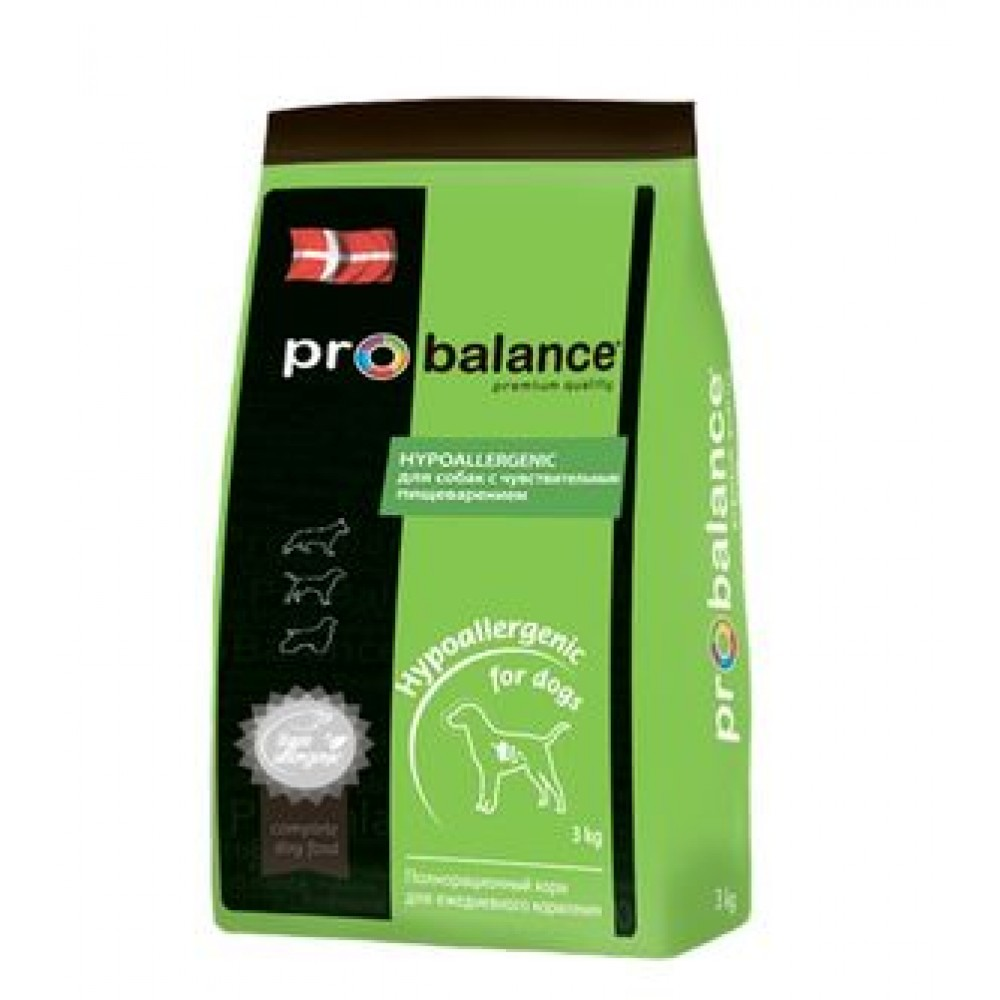 ProBalance ProBalance (3кг) д/с гипоаллерген. Hypoallergenic Kormberi.ru магазин товаров для ваших животных