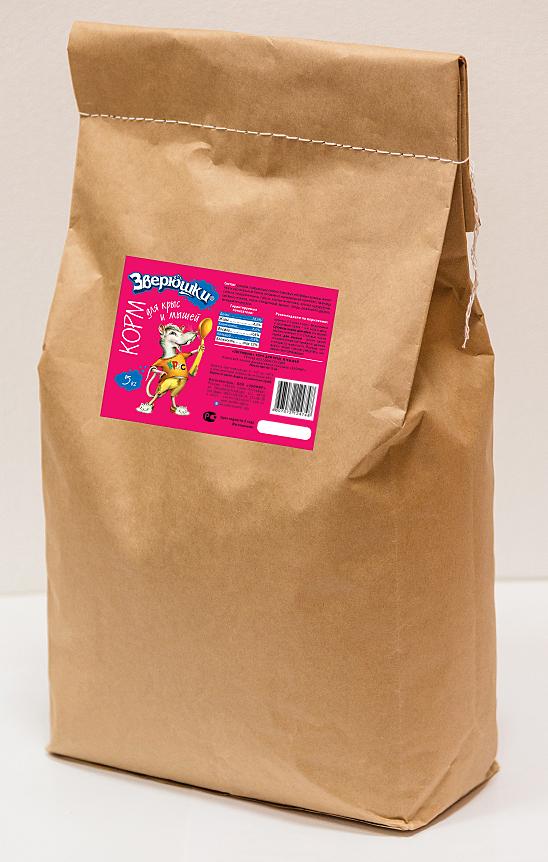 """Зверюшки """"Зверюшки"""" корм для крыс и мышей  5 кг Kormberi.ru магазин товаров для ваших животных"""