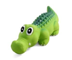 №1 №1 Игрушка д/собак Крокодил с пищалкой, средний, латекс 21см ЛС64 Kormberi.ru магазин товаров для ваших животных