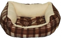 №1 №1 Лежанка Фэшн лежанка коричневая объемная флок 51*37*13 см Kormberi.ru магазин товаров для ваших животных
