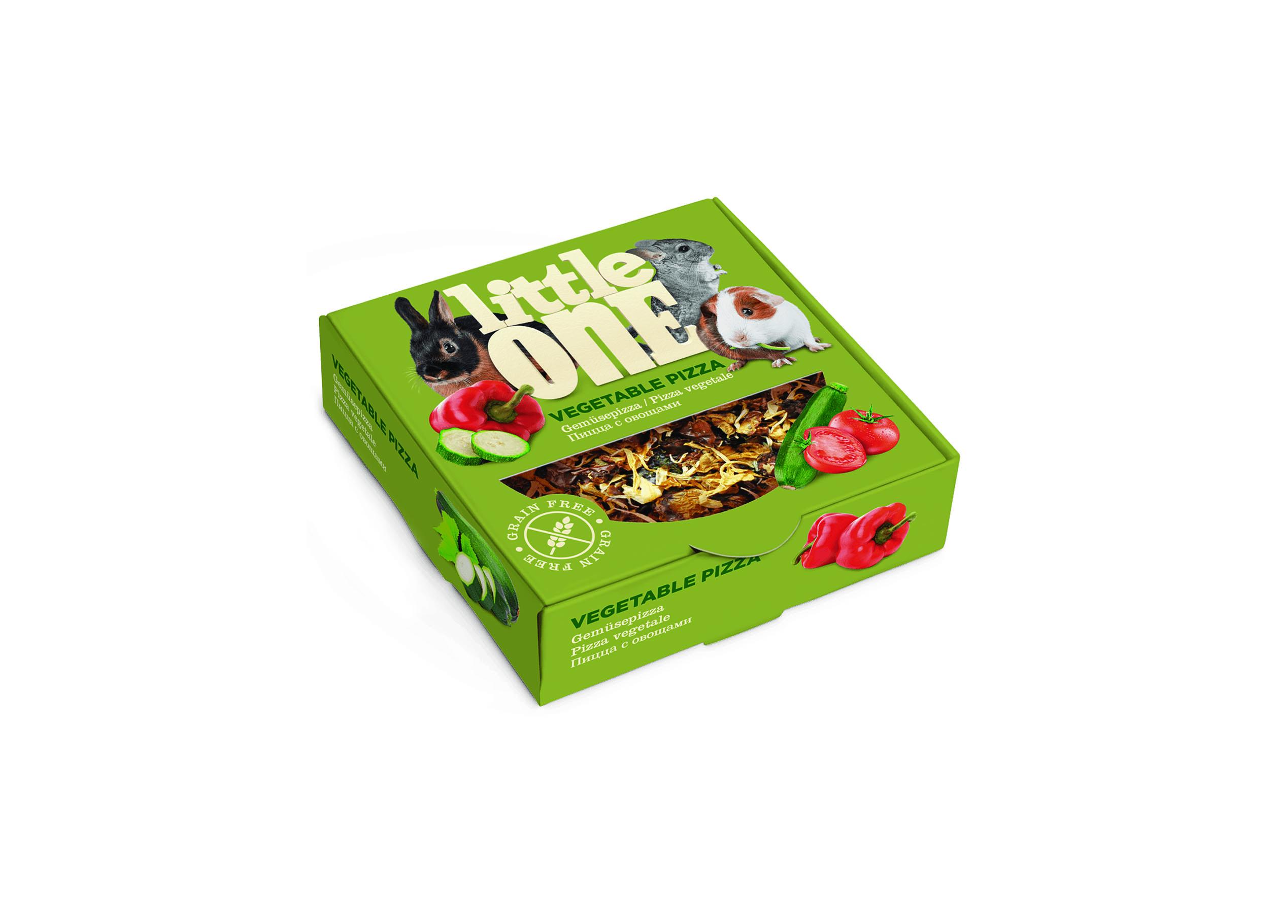 """Little One Little One Лакомство-игрушка для грызунов """"Пицца с овощами"""" 55 гр Kormberi.ru магазин товаров для ваших животных"""