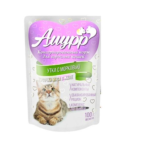 Амурр Амурр для кошек в желе Утка с морковью 100 гр Kormberi.ru магазин товаров для ваших животных